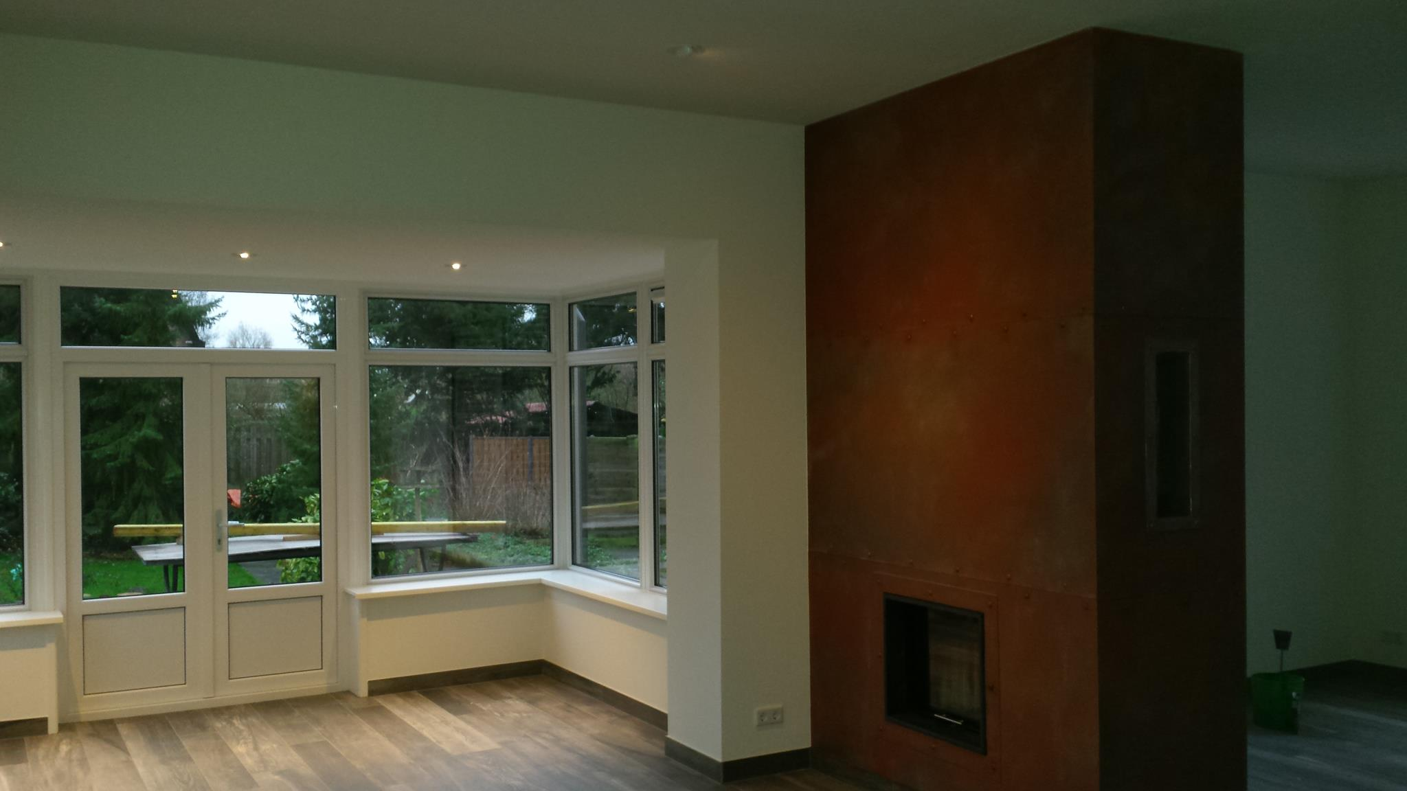 Verbouw en opbouw woonkamer